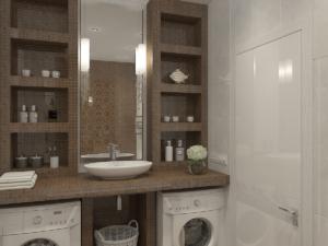 Дизайн-проект двухкомнатной квартиры. Интерьер ванной 1