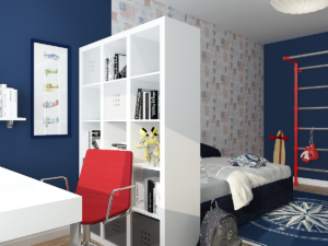 Дизайн-проект двухкомнатной квартиры. Интерьер детской