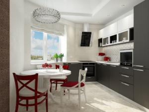 Дизайн-проект двухкомнатной квартиры. Интерьер кухни 1