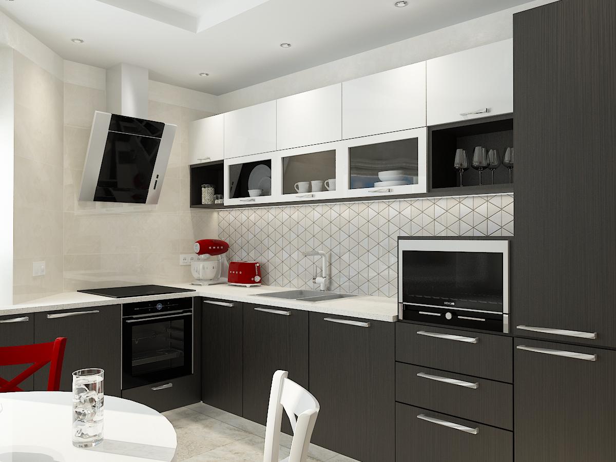 Дизайн-проект двухкомнатной квартиры. Интерьер кухни 2