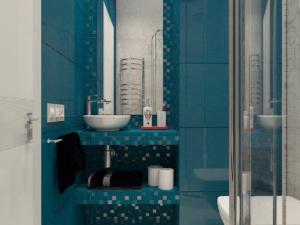 Дизайн-проект двухкомнатной квартиры. Интерьер сан узла