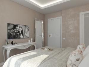 Дизайн-проект двухкомнатной квартиры. Интерьер спальни 3