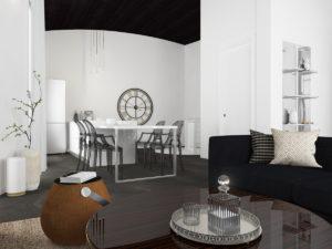 Дизайн-проект квартиры в Италии. Интерьер гостиной 1