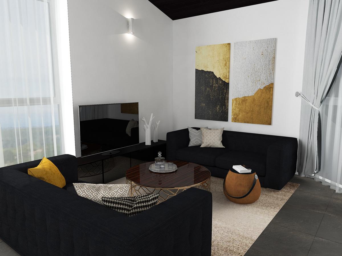 Дизайн-проект квартиры в Италии. Интерьер гостиной 2