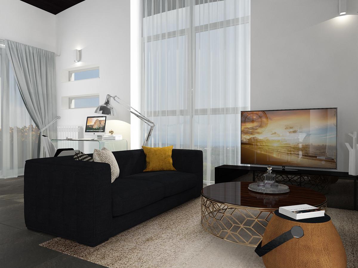 Дизайн-проект квартиры в Италии. Интерьер гостиной 3