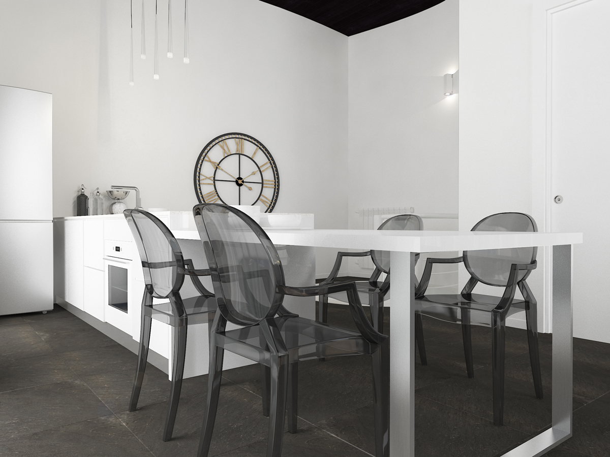 Дизайн-проект квартиры в Италии. Интерьер кухни 1