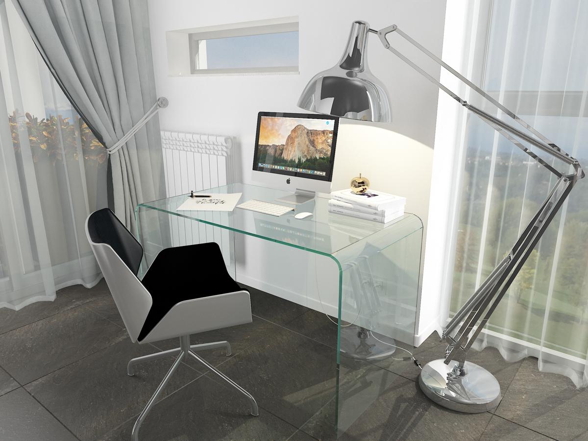 Дизайн-проект квартиры в Италии. Интерьер с письменным столом