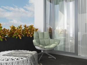 Дизайн-проект квартиры в Италии. Терраса