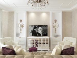 Дизайн-проект квартиры в классическом стиле. Интерьер гостиной 2