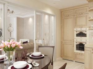 Дизайн-проект квартиры в классическом стиле. Интерьер кухни 3