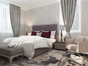 Дизайн-проект квартиры в классическом стиле. Интерьер спальни 1