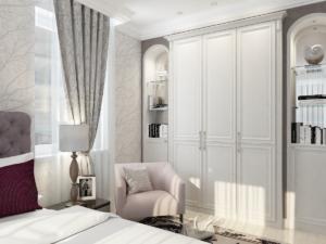 Дизайн-проект квартиры в классическом стиле. Интерьер спальни 2