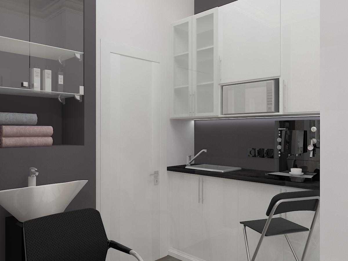 Дизайн-проект салона красоты. Интерьер комнаты для персонала