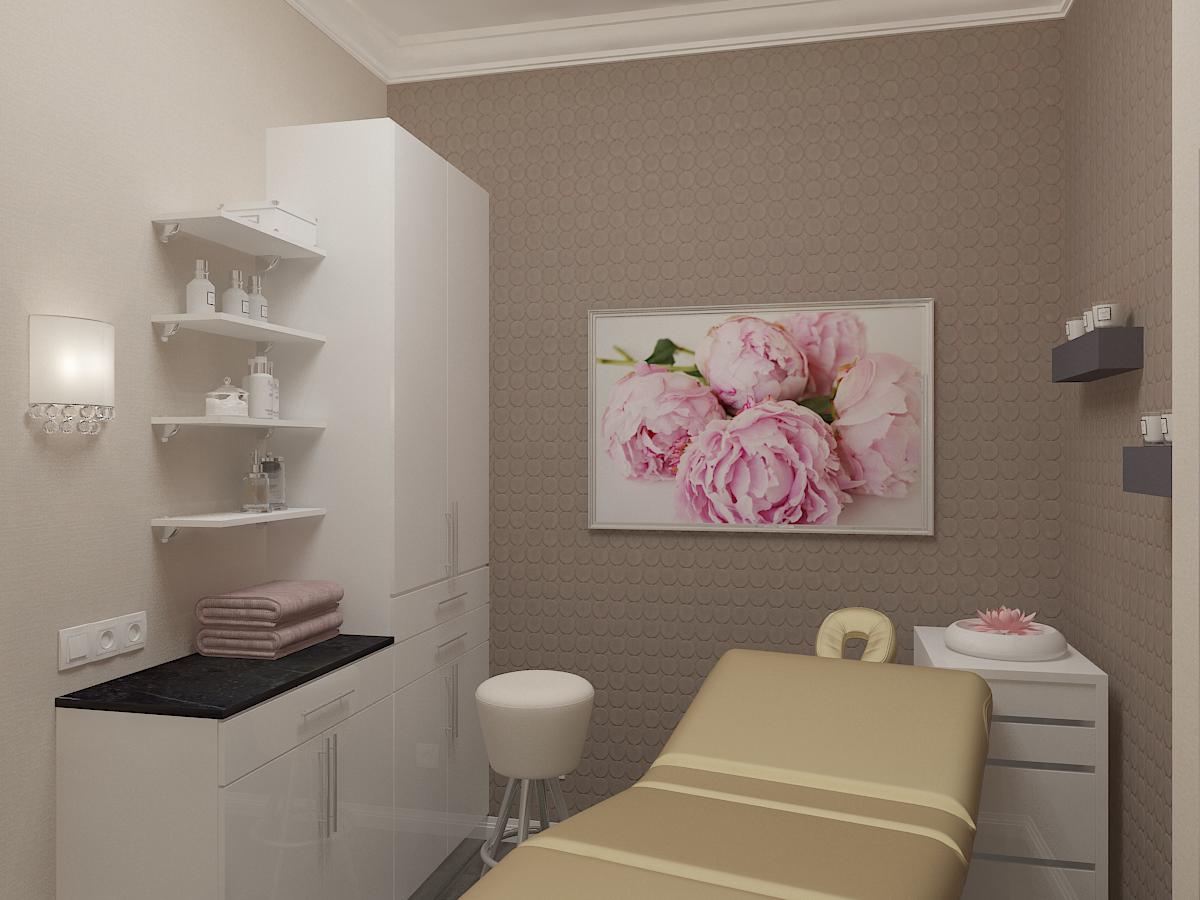 Дизайн-проект салона красоты. Интерьер массажного кабинета