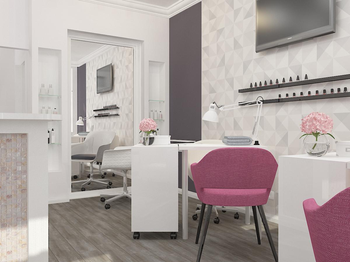 Дизайн-проект салона красоты. Интерьер основного зала 3