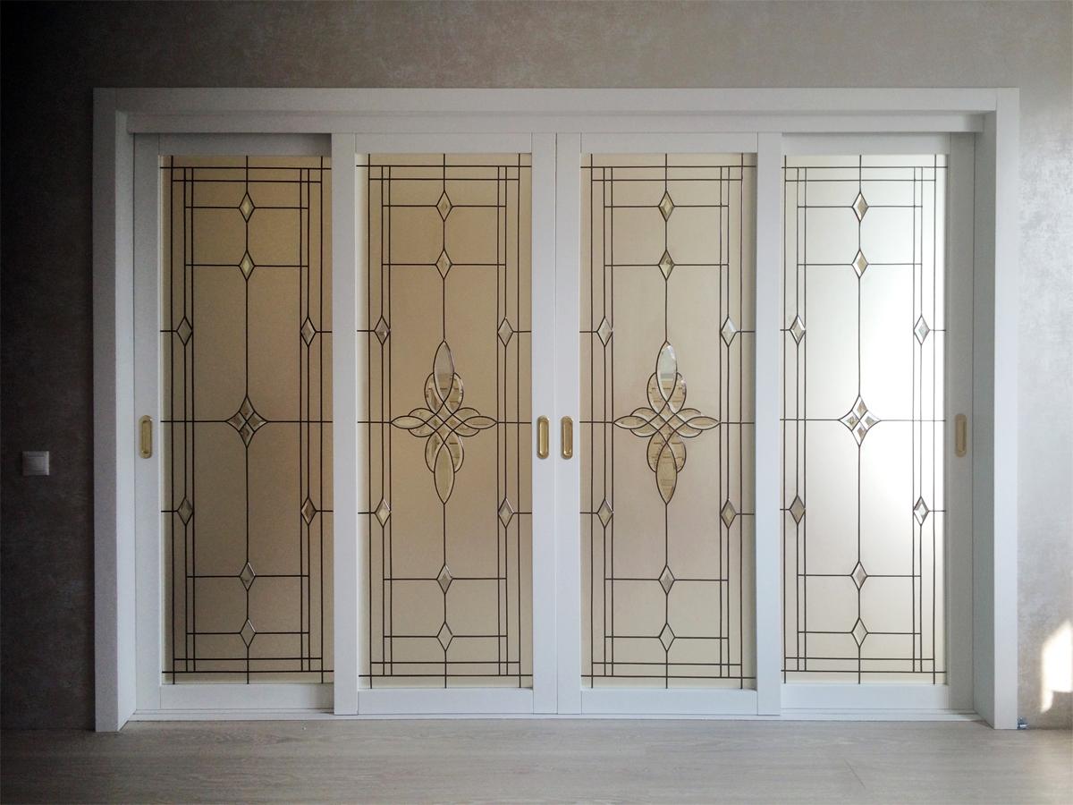 Реализация проекта Золотая классика. Витражные двери
