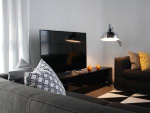 Реализация проекта квартиры в Италии. Интерьер гостиной