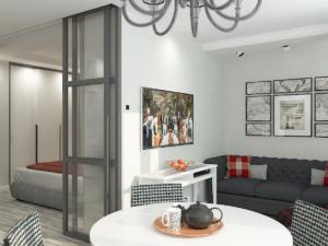 дизайн интерьера гостиной однушки