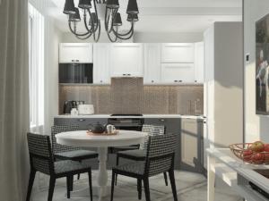дизайн интерьера кухни квартиры 1
